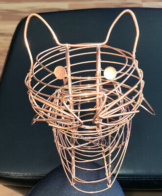 Old Dutch International Wire Basket Copper Brass Cat Gift Egg Decorative Old Dutch International Decor