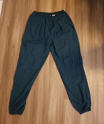 "VTG Vintage 80's 90's Nike Windbreaker Track Pants Shell Green Nylon RARE XL 32"""