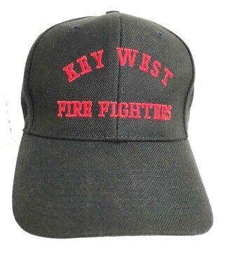 KEY WEST FIRE FIGHTERS Men's Black Baseball Cap Snap Back Hat  - Firefighter Hat