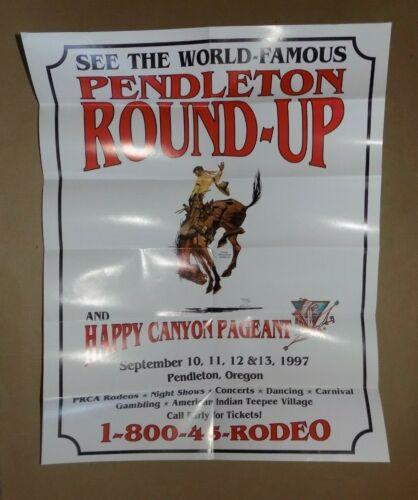 World Famous PENDLETON ROUNDUP & HAPPY CANYON PAGEANT Poster / Souvenir 1997