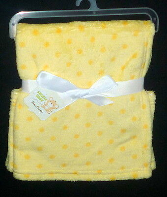 SNUGLY BABY Unisex Fleece Soft Blanket Yellow size 30