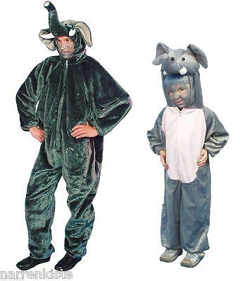 Elefant Kostüm Elefantenkostüm Overall Plüsch Elefanten Tiger Löwe Herren Kinder