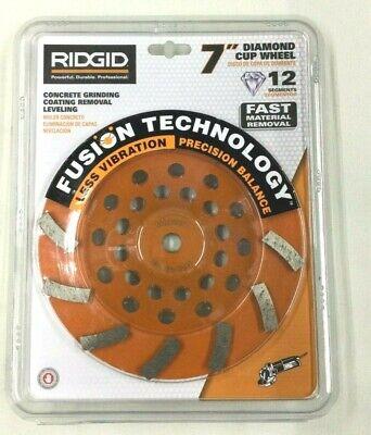 Brand New- Ridgid 7 Diamond Cup Wheel Taw7012l1