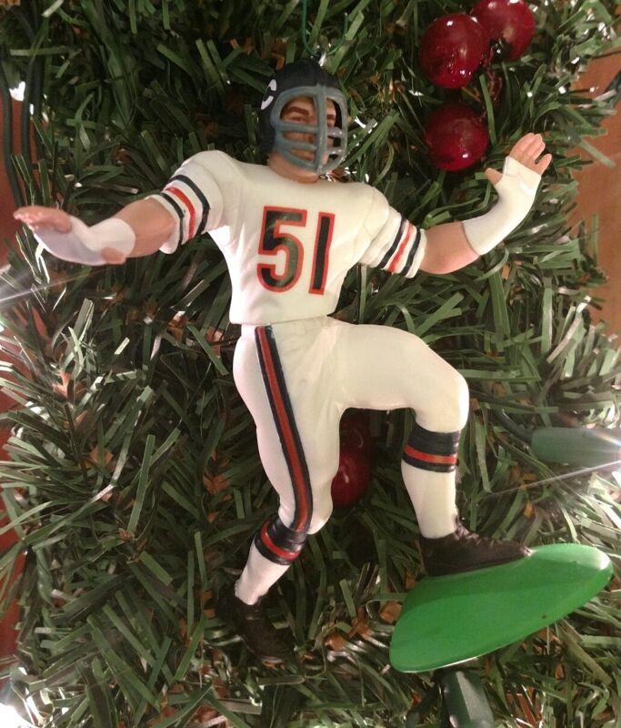 Dick Butkus  CHICAGO BEARS  NFL Christmas Tree Ornament  Football Figure
