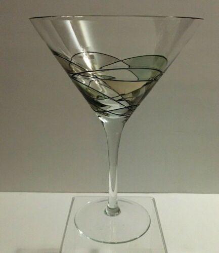 Romania Milano Black and Gold Martini Glass