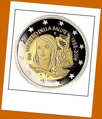 2 Euro Gedenkmünze Italien 2018 - 60 Jahre Gesundheitsministerium - lieferbar