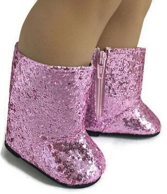 Pink Sparkle Boot Shoes made for 18 inch American Girl Doll Clothes - Sparkle Boots For Girls