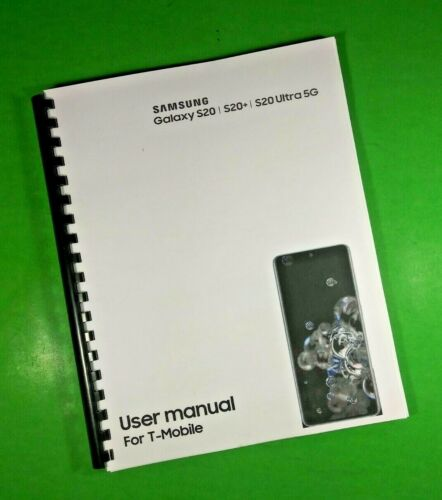 """LASER 8.5X11"""" Samsung Galaxy S20 S20+ Ultra 5G T-Mobile Phone 181 Pg Manual"""