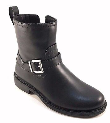 - Cougar Janet Black Waterproof Round Toe Low Heel Riding Ankle Boots