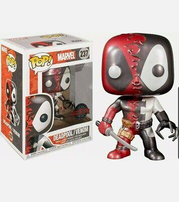 Exclusive Marvel Venomized Metallic Venom Deadpool No. 237 Funko Pop
