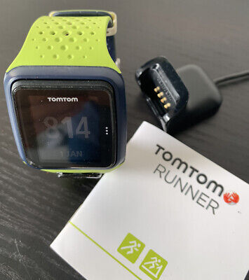 TomTom Runner - Lime Green GPS Watch with charger / Band / manual - Tracker
