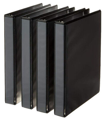 3-ring Binder 1 Inch Rings - 4-pack Black Free Fast Shipping