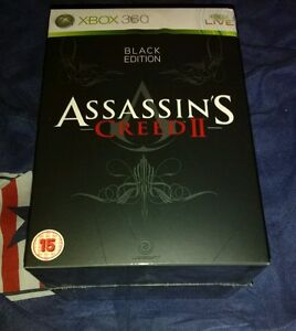 Assassin's Creed II 2 Black Edition Xbox 360 Sealed