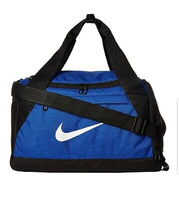 b2d9fba0008 Nike Brasilia Training Duffel Gym Bag XS Extra Small Blue White NEW  BA5982-480