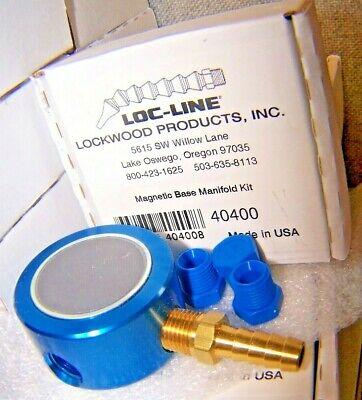 New Lockwood Loc-line 40400 14 Modular Hose System Magnetic Base Manifold