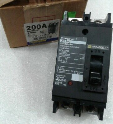 Qdl22200 Square D 2pole 200amp 240v Circuit Breaker New In Box