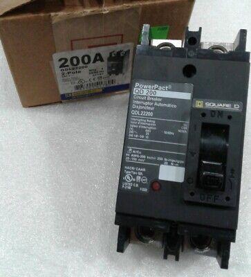 Qdl22200 Square D 2pole 200amp 240v Circuit Breaker New In Box