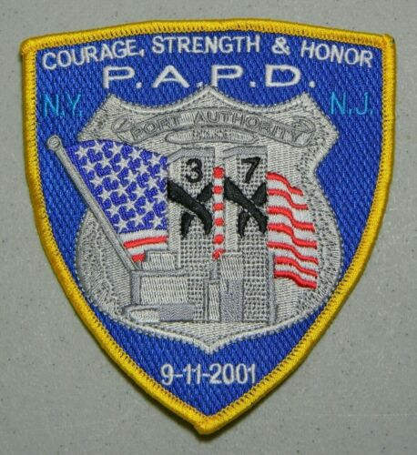 9/11 PAPD NJ PORT AUTHORITY PATCH 20TH MEMORIAL ANNIVERSARY P.A.P.D. NEW JERSEY