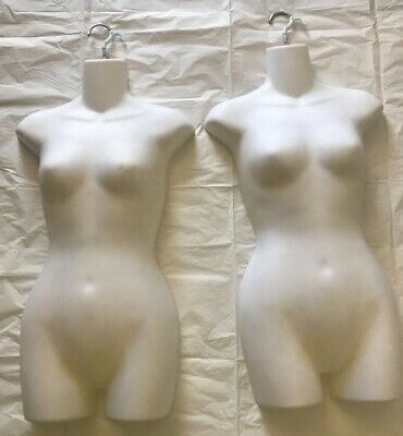 Set Off 2 Frosted Opaque Molded Shapely Womans Form With Flexible Shatterproof