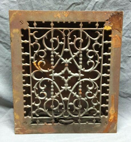 Antique Cast Iron Decorative Heat Grate Floor Register 10X12 Vintage 272-19C