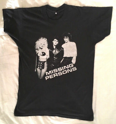 VINTAGE 80's MISSING PERSONS I FOUND THEM! TOUR NEW T-SHIRT (I Found Them)