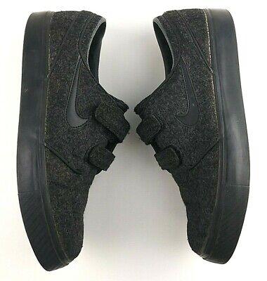 6a9b757557bed Nike Men s Size 8.5 Stefan Janoski Wool Shoes - Cork Insole Anthracite  Black  92