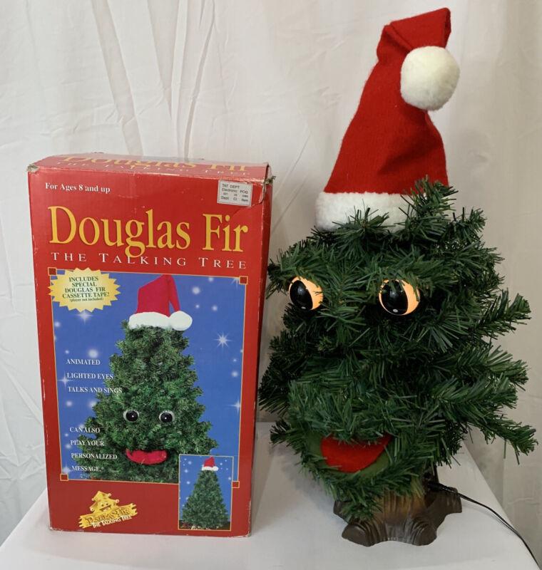 VINTAGE 1996 GEMMY DOUGLAS FIR THE TALKING TREE ANIMATED CHRISTMAS