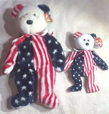Ty SPANGLE Beanie Baby & Beanie Buddy - MWMT - 2 pcs Free Shipping