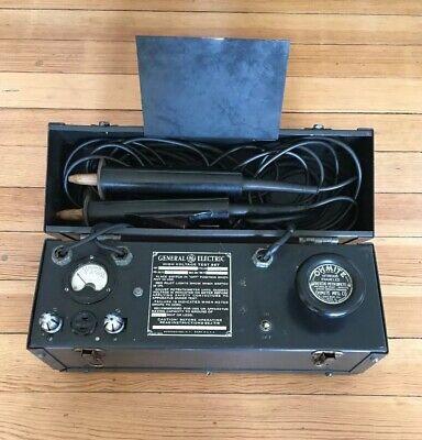 Vintage Ge General Electric High Voltage Test Set 3000 Volts Parts Not Working