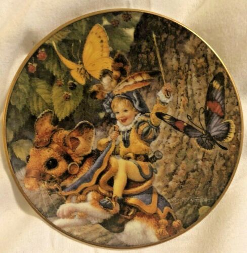 "Bradford Exchange Classic Fairy Tails Mini Plate ""Tom Thumb"""