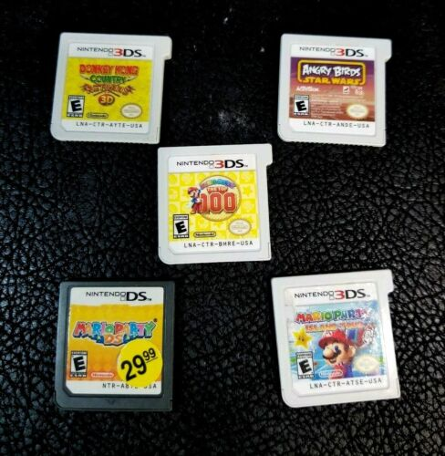 Lot of 5 Nintendo DS games Mario Top 100, Doneky Kong, Angry Birds, island tour