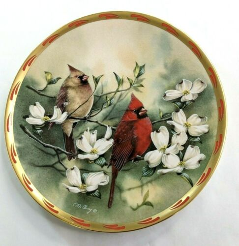 Lenox Catherine McClung Springs Courtship Natures Collage Bird Plate Collection