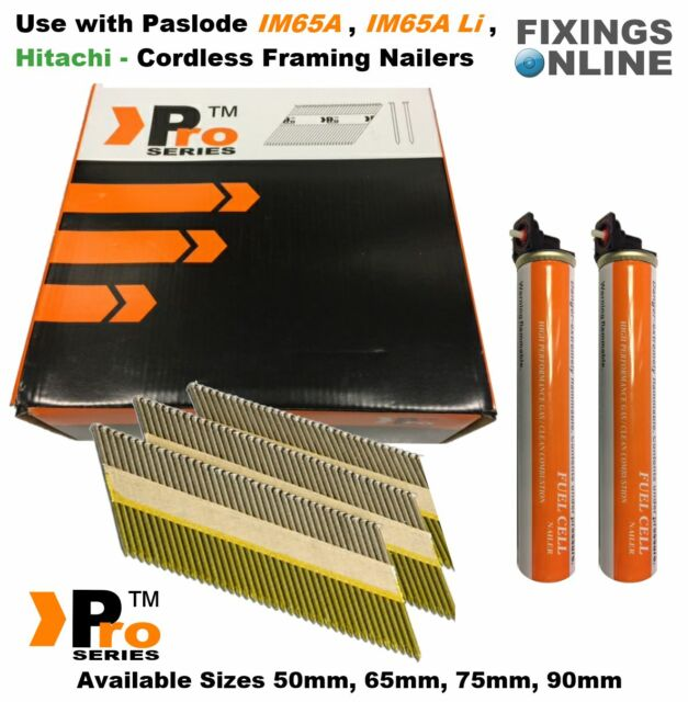 2000 x Framing Nails,Clipped D-Head- for Paslode/ Hitachi First Fix Nailers