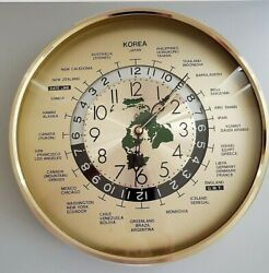 Date Line Time Zones of the World Quartz Wall Clock