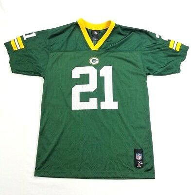 NFL Team Apparel Green Bay Packers Jersey# 21 Woodson Youth Shirt sz XL 18-20