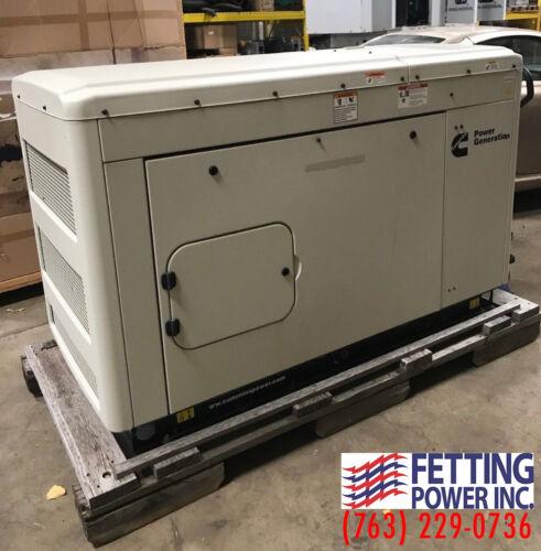 New 25kW Cummins Natural Gas Stationary Generator C25-N6 | S/N: B140631751