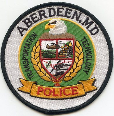 ABERDEEN MARYLAND MD Transportation Technology POLICE PATCH