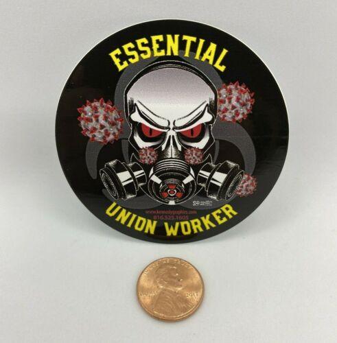 Essential Union Worker Sticker Hard Hat Sticker Decal Organized Labor
