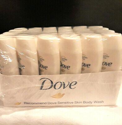 24 Dove Sensitive Skin Body Wash Bottles 1.8 Ounce Travel Size New In Wrap Case Dove Sensitive Skin Body Wash