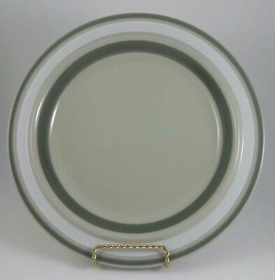 Arabia Finland Salla Dinner Plate Gray Tan White Band Mid Century Hand Painted