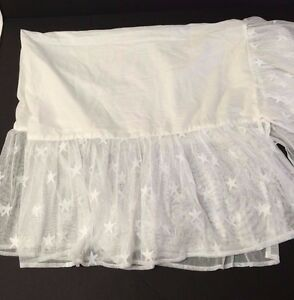 Wendy Bellissimo Starlight lace overlay crib skirt for Honey Bee nursery decor