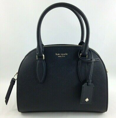 Kate Spade Leather (New Authentic Kate Spade Leather Reiley Medium Dome Satchel Handbag Purse Black  )