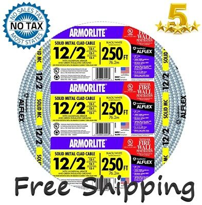 Southwire Armorlite 250-ft 122 Solid Aluminum Feeder Mc Cable Wire Exposedwet