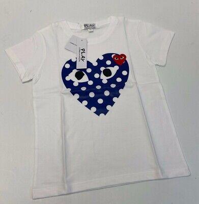 Play Comme Des Garçons Girls Short Sleeve T-Shirt Size M #47A