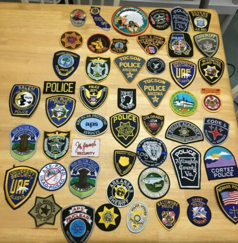 NICE LOT OF 50  LAW ENFORCEMENT PATCHES   FTC-02