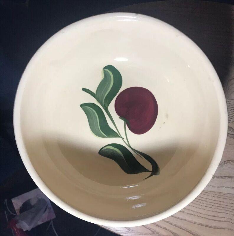 "Vintage Watt Apple 3 Leaf Mixing Bowl 91/2"""