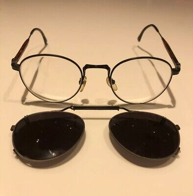 Rare Iconic Matsuda Vintage Glasses & Clip On Shades & Case Loved By Hollywood