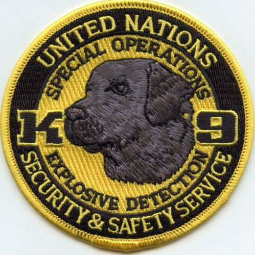 UNITED NATIONS Washington DC Special Operations BOMB DOG K-9 POLICE PATCH