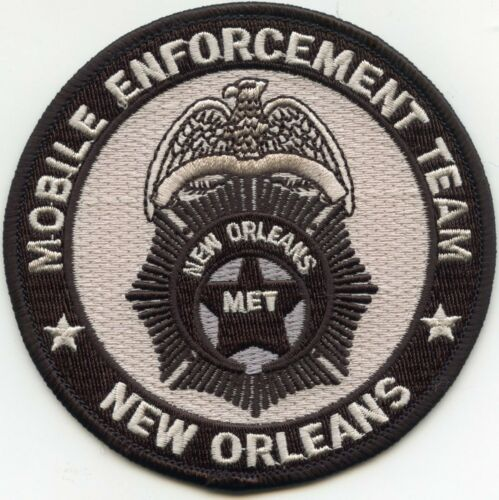 NEW ORLEANS LOUISIANA MOBILE ENFORCEMENT TEAM MET POLICE PATCH