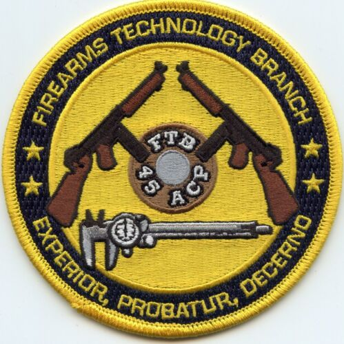 ATF FIREARMS TECHNOLOGY BRANCH Martinsburg WEST VIRGINIA colorful POLICE PATCH